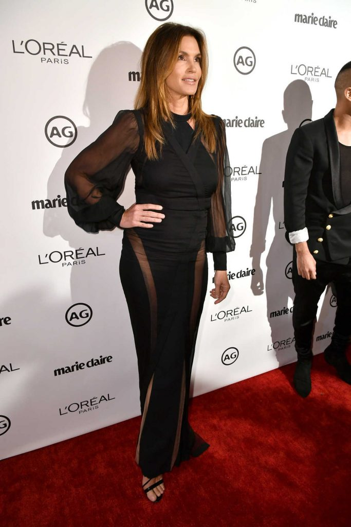 Cindy Crawford at the Marie Claire Image Maker Awards in Los Angeles 10/01/2017-2