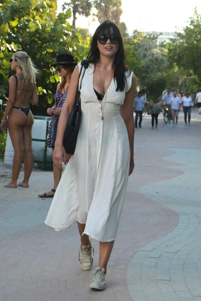 Daisy Lowe Was Seen Out in Miami 01/02/2017-1