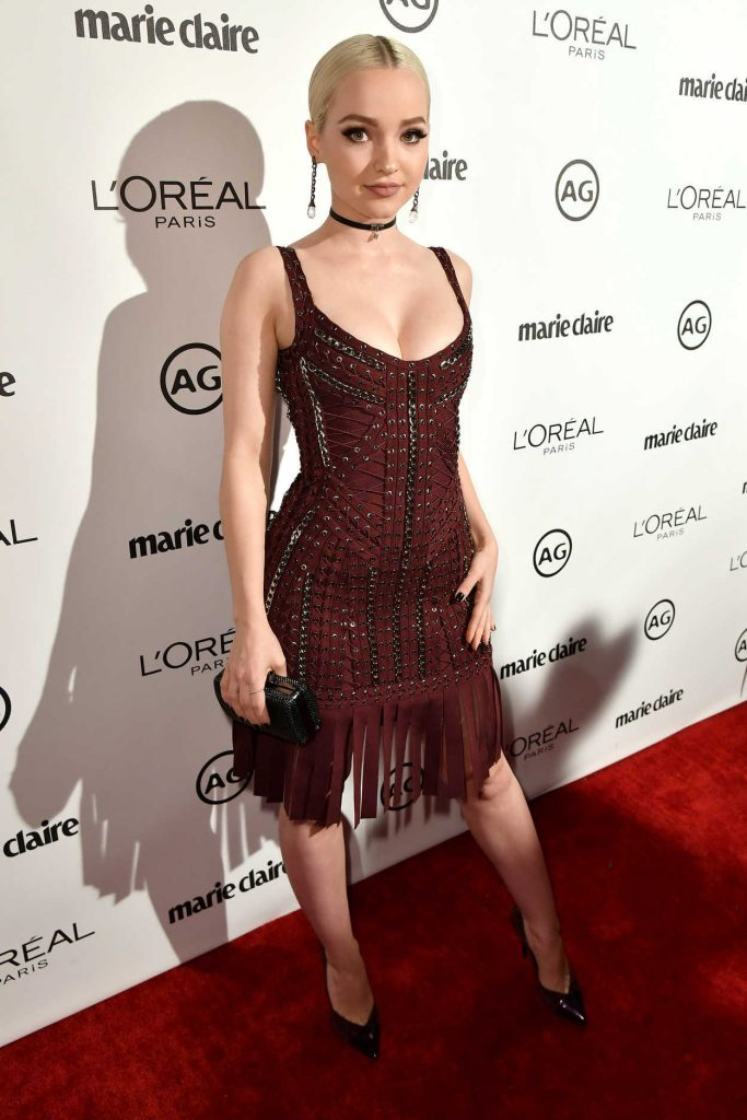 Dove Cameron at the Marie Claire Image Maker Awards in Los Angeles 10/01/2017-1