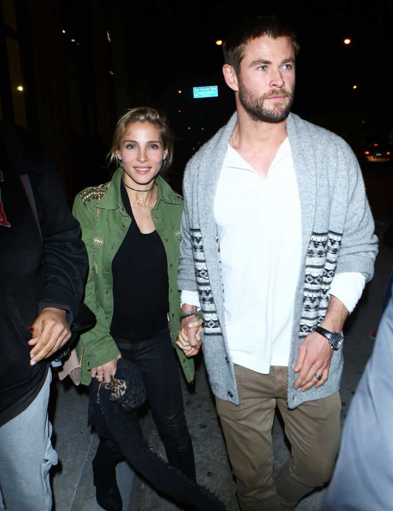 Elsa Pataky and Chris Hemsworth Arrive at Catch Restaurant in West Hollywood 01/14/2017-1