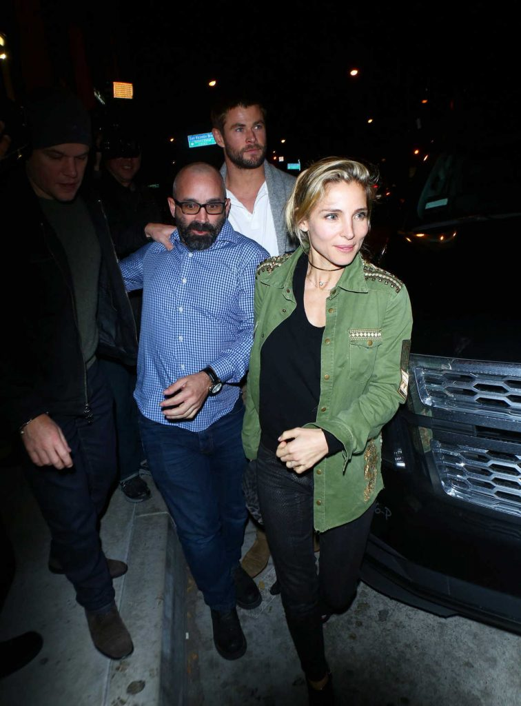 Elsa Pataky and Chris Hemsworth Arrive at Catch Restaurant in West Hollywood 01/14/2017-3