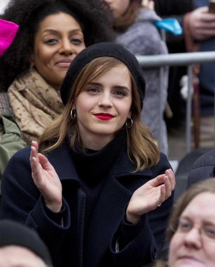 Emma Watson at the Women's March on Washington 01/21/2017-2