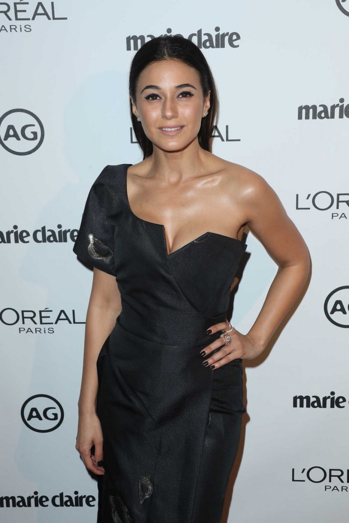 Emmanuelle Chriqui at the Marie Claire Image Maker Awards in Los Angeles 10/01/2017-2