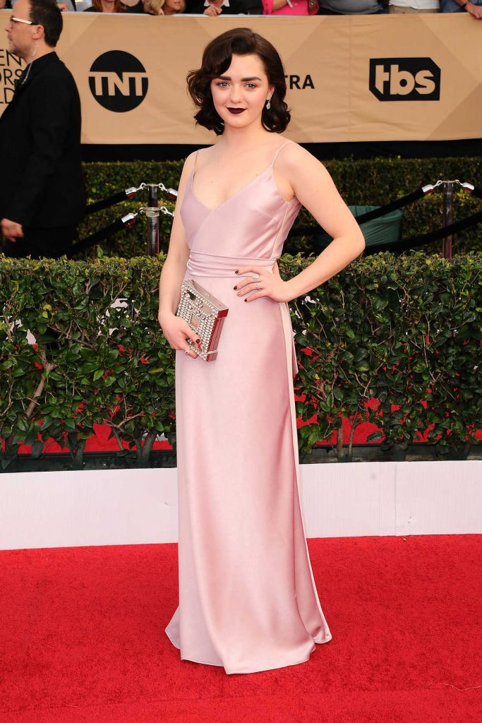 Maisie Williams at the 23rd Annual Screen Actors Guild Awards in Los Angeles 01/29/2017-1