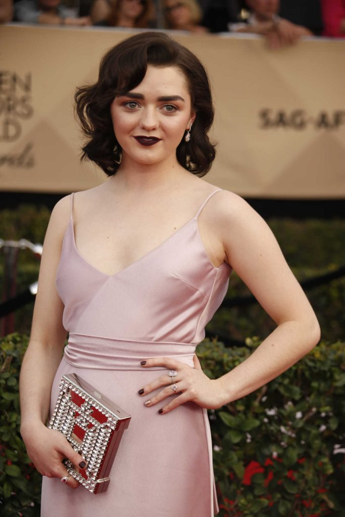 Maisie Williams at the 23rd Annual Screen Actors Guild Awards in Los Angeles 01/29/2017-2