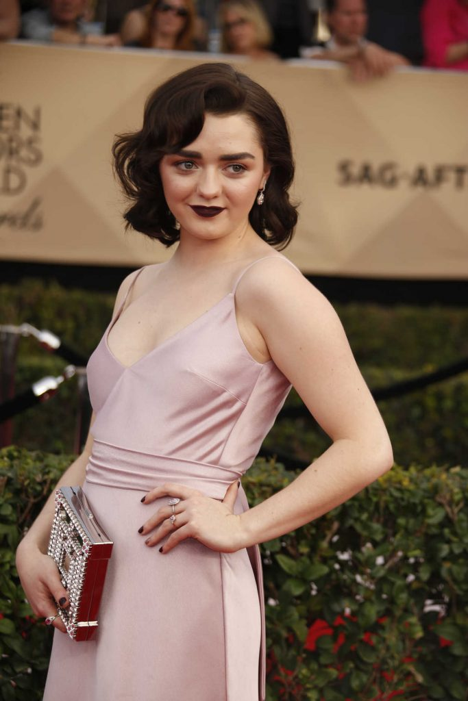 Maisie Williams at the 23rd Annual Screen Actors Guild Awards in Los Angeles 01/29/2017-3