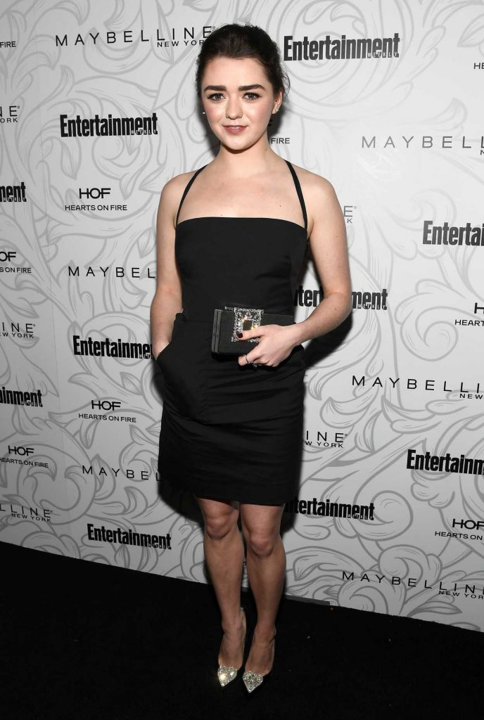 Maisie Williams at the Entertainment Weekly Celebration of SAG Award Nominees in Los Angeles 01/28/2017-1