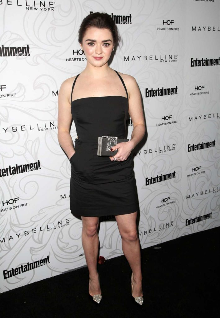 Maisie Williams at the Entertainment Weekly Celebration of SAG Award Nominees in Los Angeles 01/28/2017-2