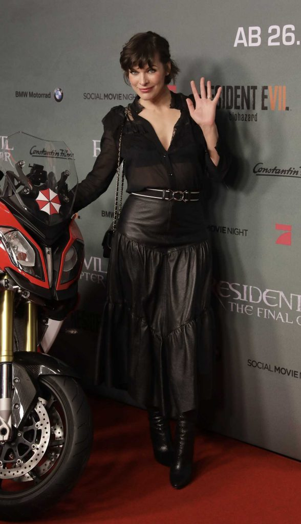Milla Jovovich at the Resident Evil: The Final Chapter Premiere in Berlin 01/19/2017-1