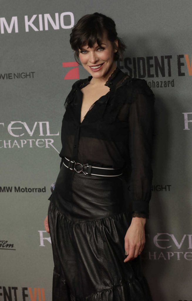 Milla Jovovich at the Resident Evil: The Final Chapter Premiere in Berlin 01/19/2017-5