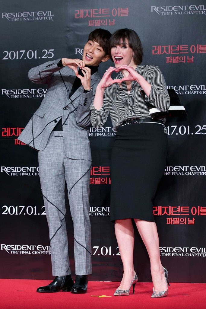 Milla Jovovich at the Resident Evil: The Final Chapter Press Conference in Seoul 01/13/2017-1