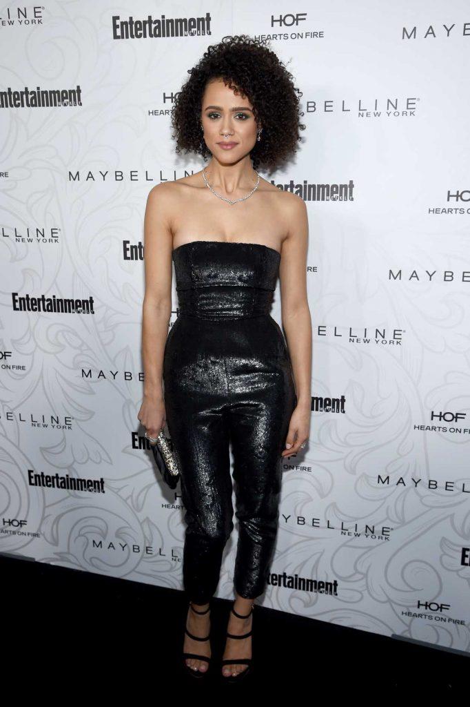 Nathalie Emmanuel at the Entertainment Weekly Celebration of SAG Award Nominees in Los Angeles 01/28/2017-1