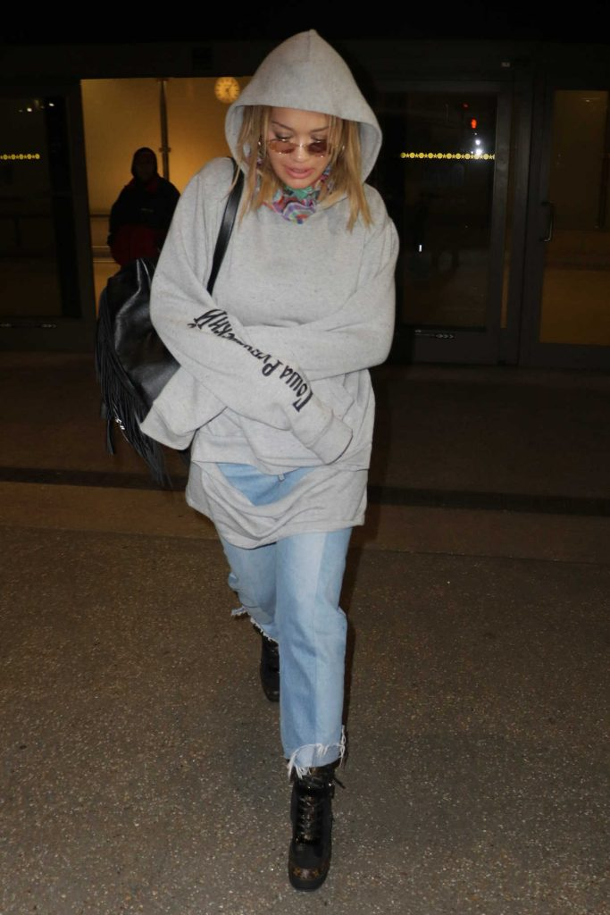 Rita Ora at LAX Airport in Los Angeles 01/26/2017-2