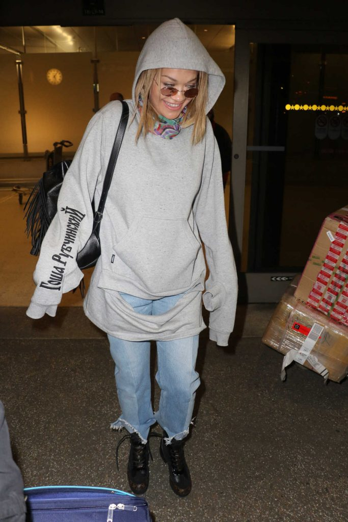 Rita Ora at LAX Airport in Los Angeles 01/26/2017-3