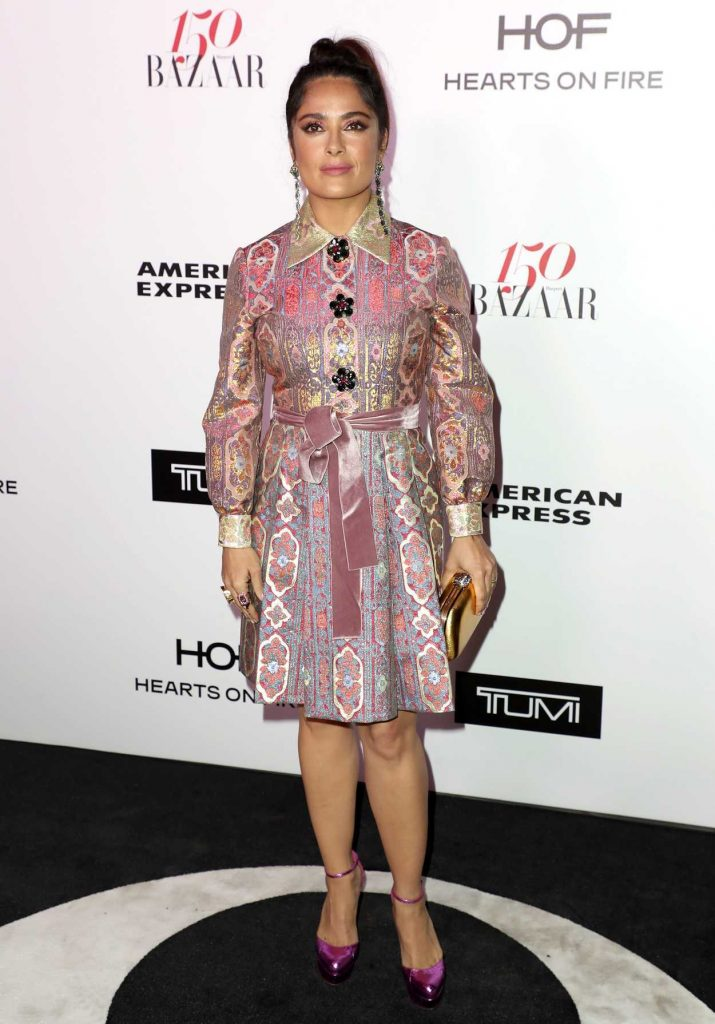 Salma Hayek at the Harper's BAZAAR Celebration of the 150 Most Fashionable Women in West Hollywood 01/27/2017-1