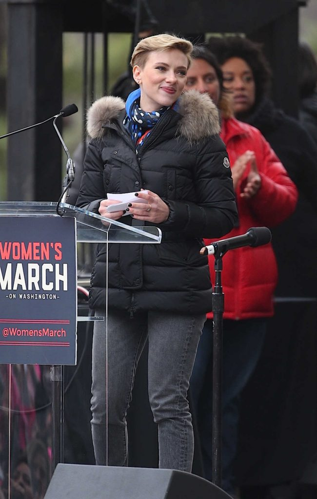 Scarlett Johansson at the Women's March in Washington 01/21/2017-1