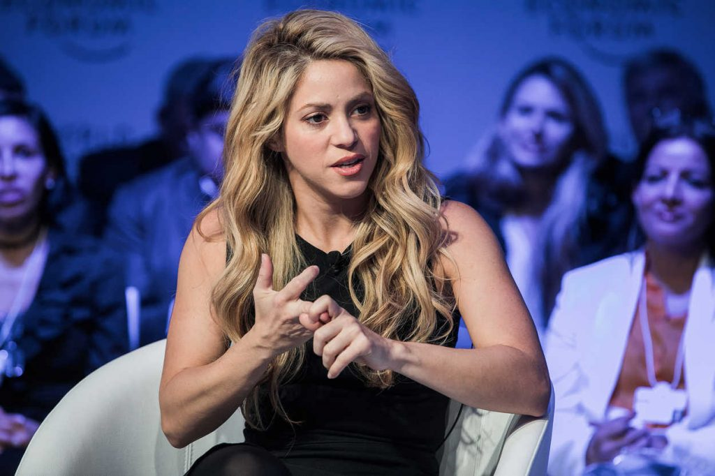 Shakira at the 2017 World Economic Forum in Davos 01/17/2017-3