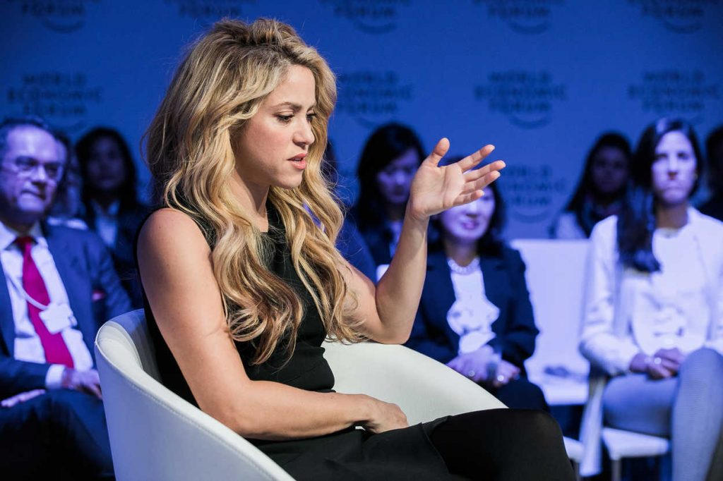 Shakira at the 2017 World Economic Forum in Davos 01/17/2017-5