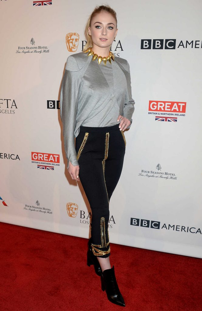 Sophie Turner at the BAFTA Tea Party at Four Seasons Hotel in Los Angeles 01/07/2017-3