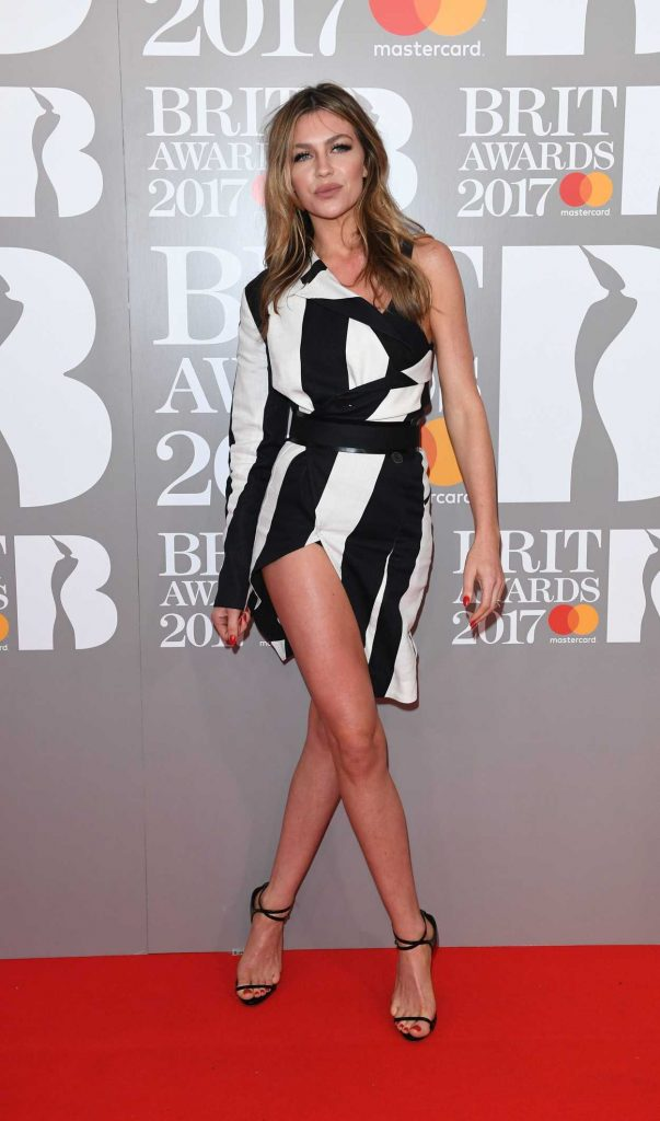 Abbey Clancy at the Brit Awards at O2 Arena in London 02/22/2017-1