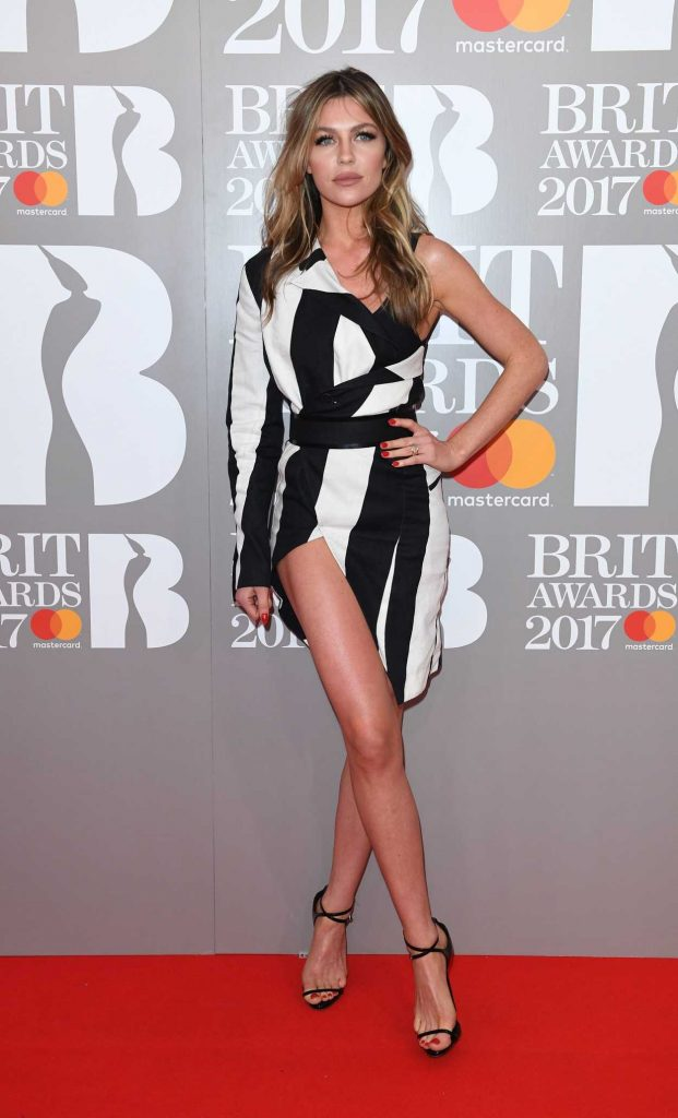 Abbey Clancy at the Brit Awards at O2 Arena in London 02/22/2017-3