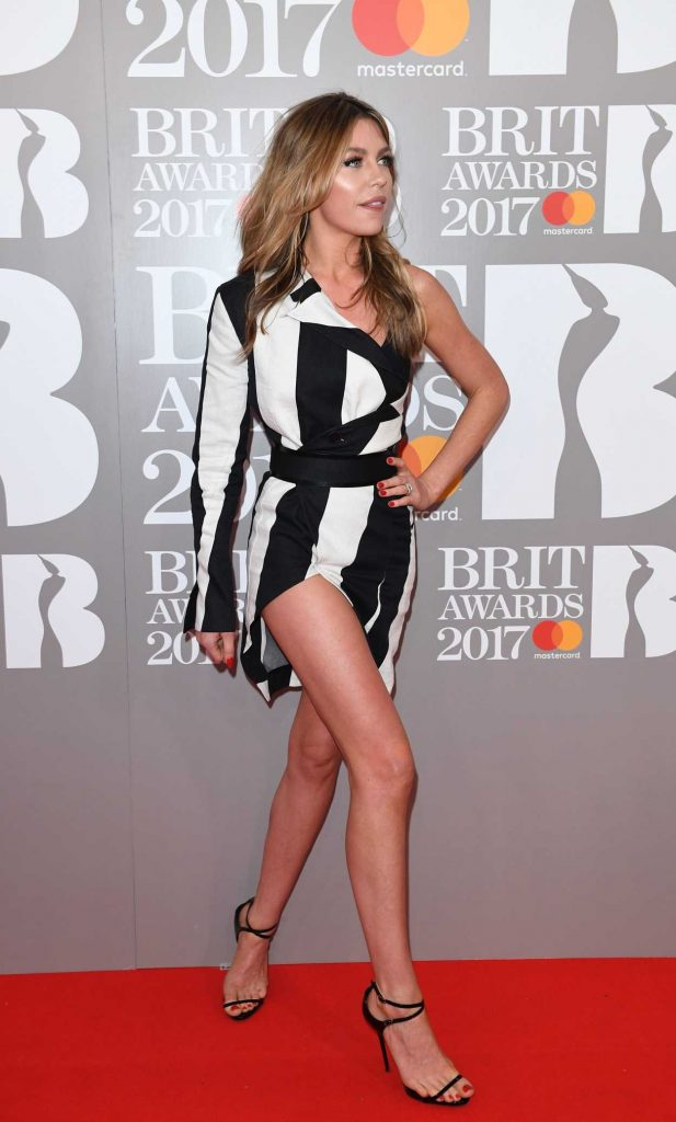 Abbey Clancy at the Brit Awards at O2 Arena in London 02/22/2017-4