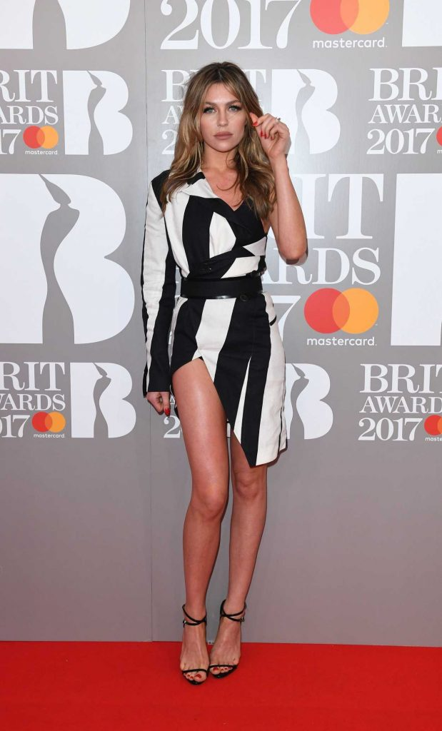 Abbey Clancy at the Brit Awards at O2 Arena in London 02/22/2017-5