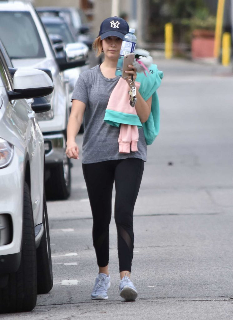 Ashley Tisdale Leaves the Gym in Studio City 02/07/2017-1