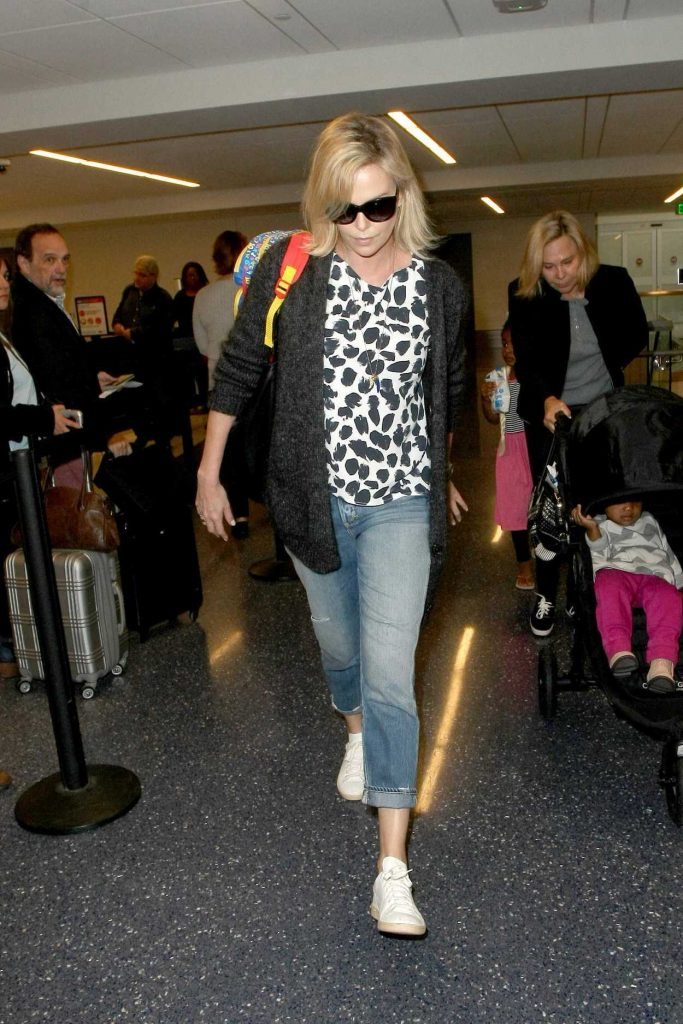 Charlize Theron at LAX Airport in LA 02/10/2017-1