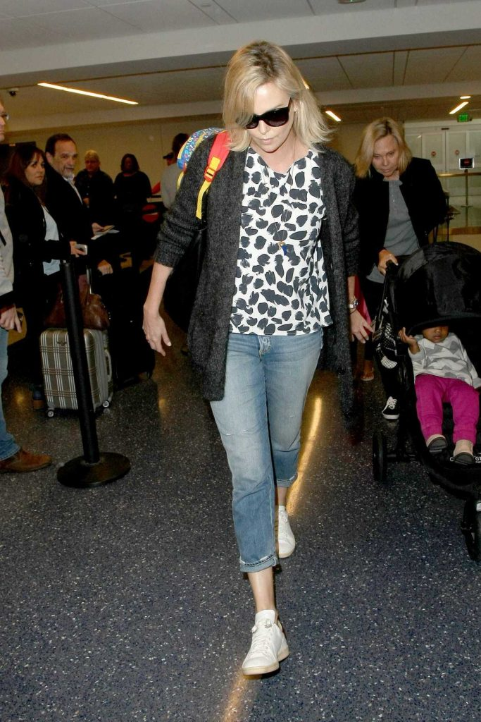 Charlize Theron at LAX Airport in LA 02/10/2017-2