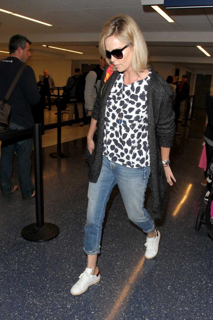 Charlize Theron at LAX Airport in LA 02/10/2017-3