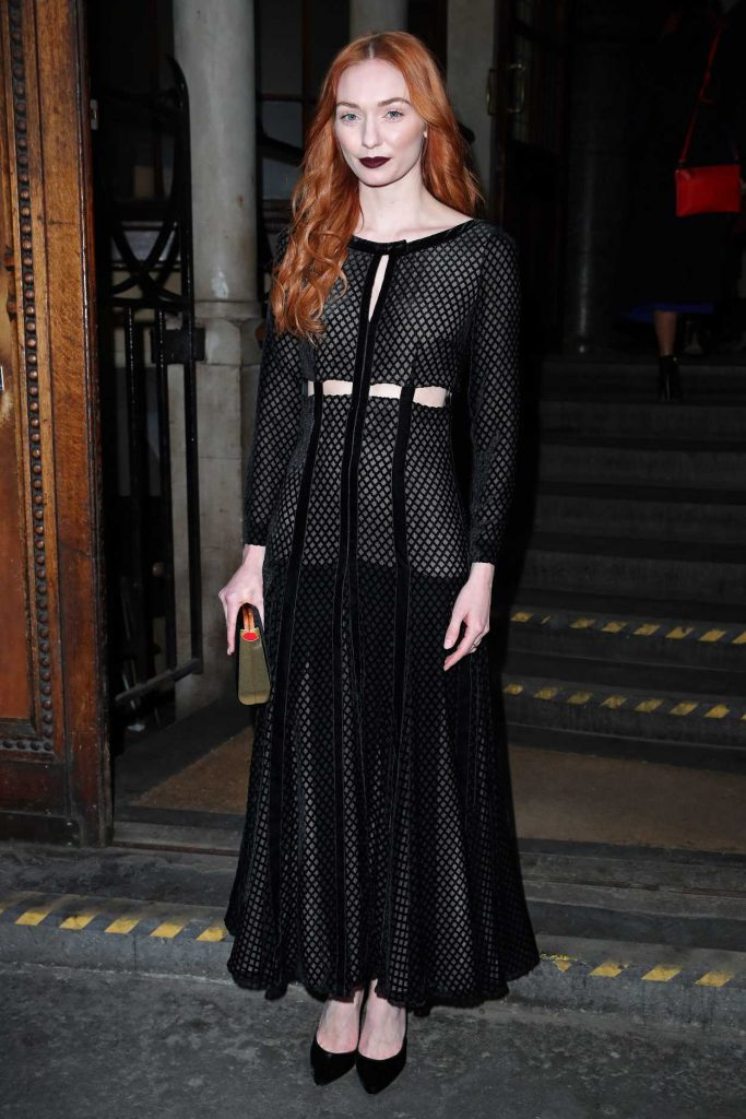 Eleanor Tomlinson Was Seen Out in London During the London Fashion Week 02/18/2017-1