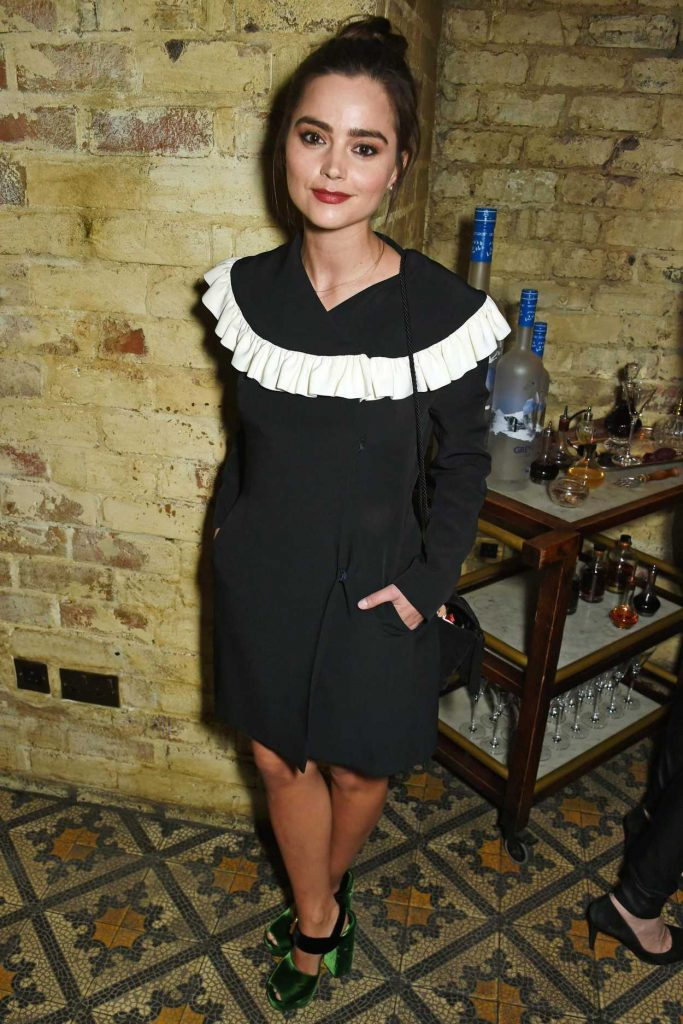 Jenna Coleman Arrives at the Burberry and Evgeny BAFTA Event in London 02/10/2017-1