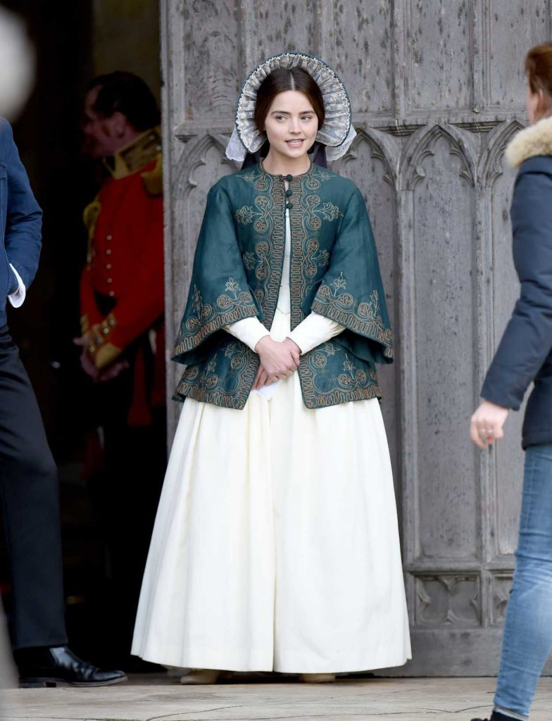 Jenna Coleman on the Set of Victoria in East Yorkshire 02/24/2017-1