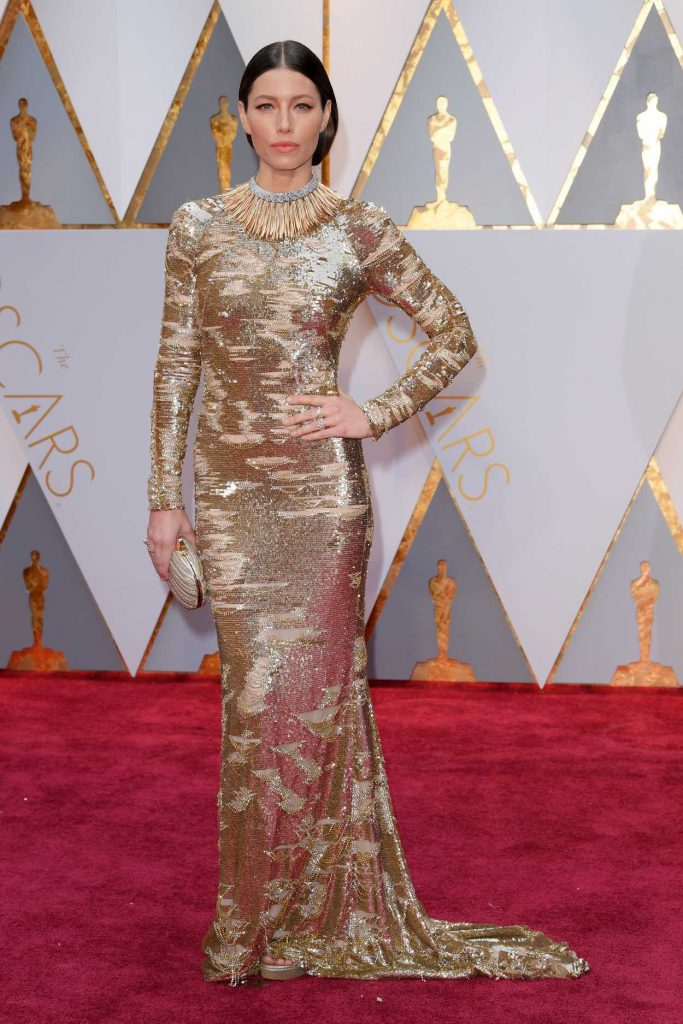 Jessica Biel at the the 89th Annual Academy Awards in Hollywood 02/26/2017-1