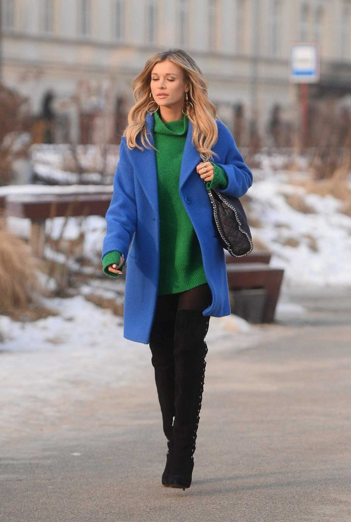 Joanna Krupa Visits a Church in Warsaw 02/01/2017-1