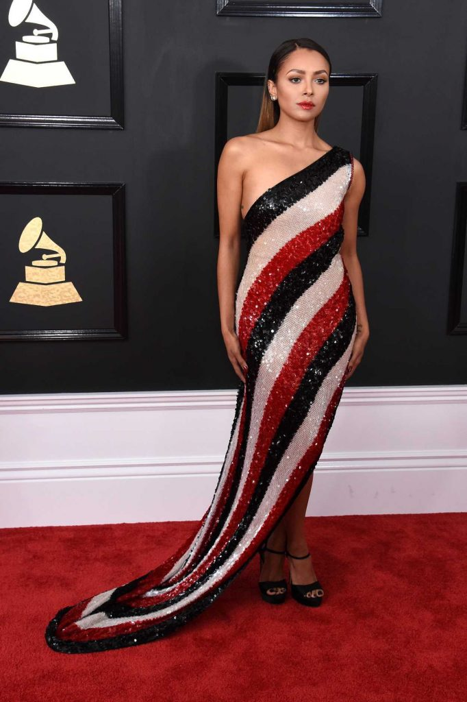 Kat Graham at the 59th Grammy Awards in Los Angeles 02/12/2017-2