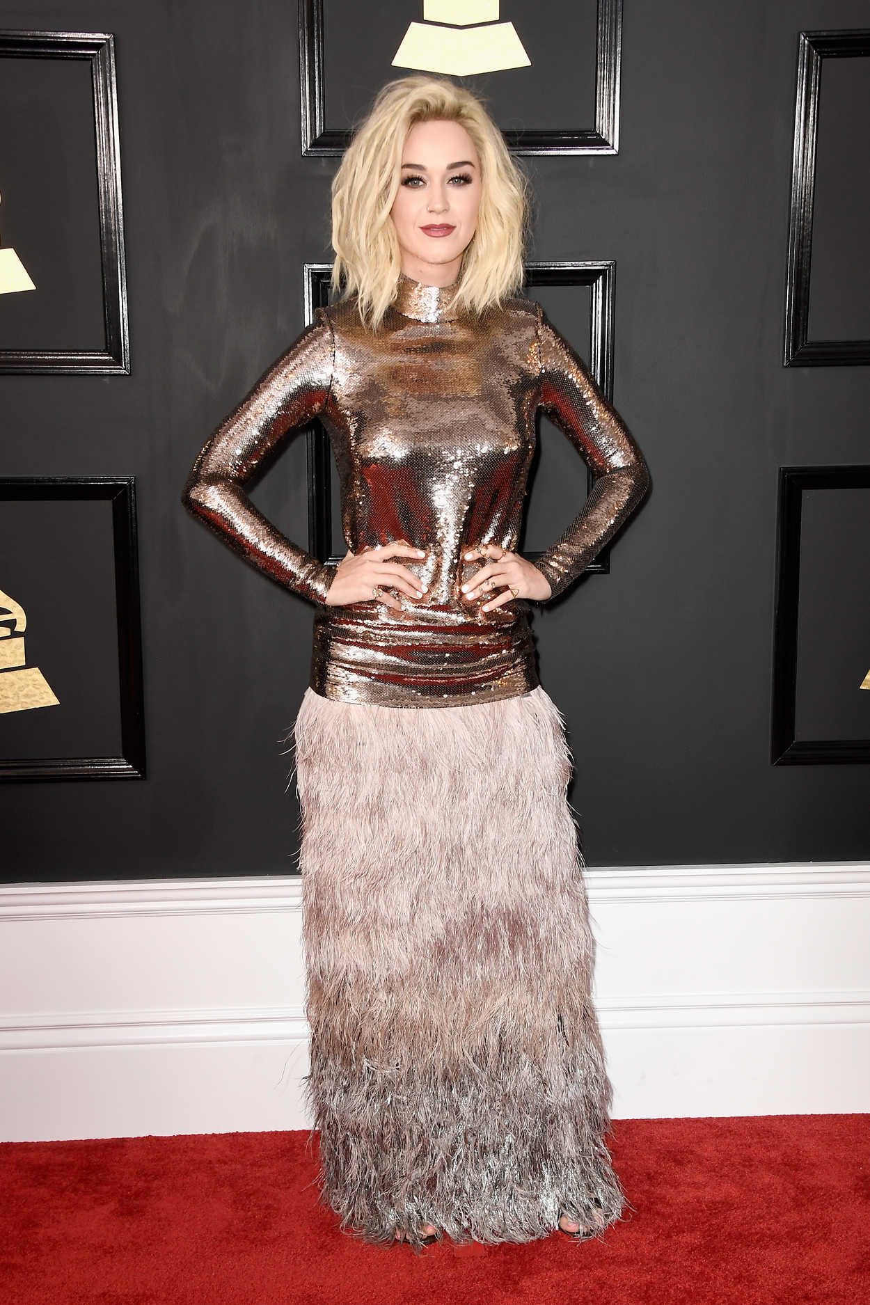 Katy Perry At The 59th Grammy Awards In Los Angeles 02 12