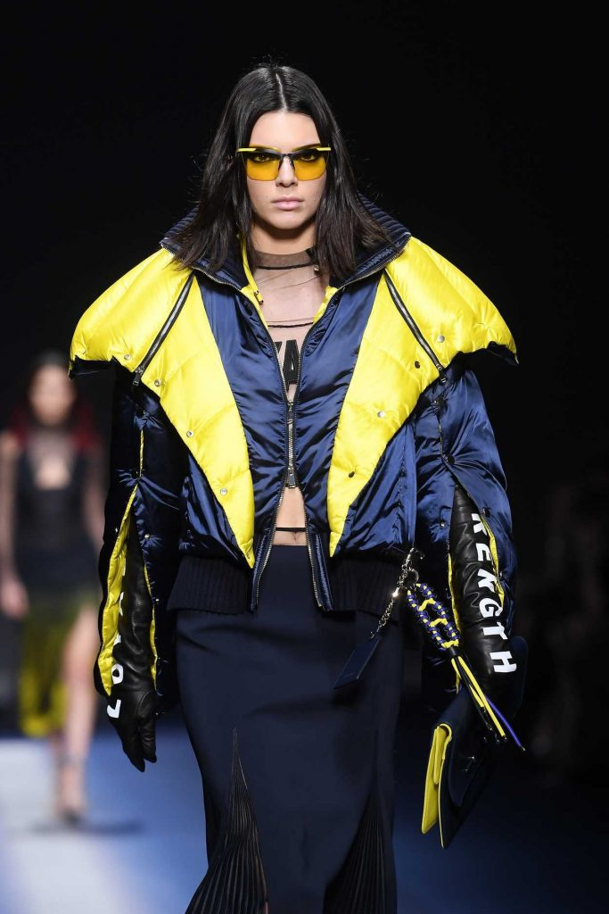 Kendall Jenner at the Versace Show During the Milan Fashion Week 02/24/2017-