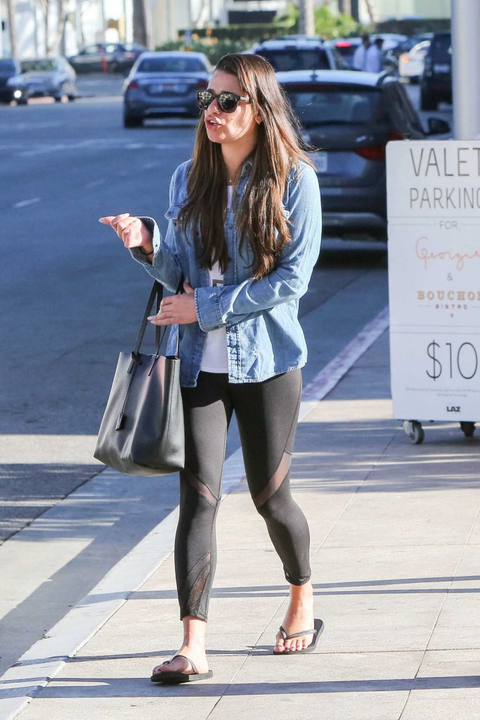 Lea Michele Was Seen Out in Beverly Hills 01/31/2017-1