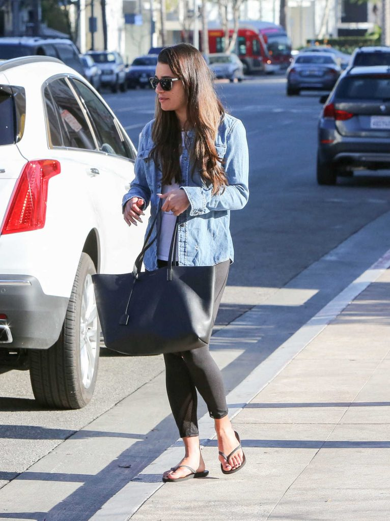Lea Michele Was Seen Out in Beverly Hills 01/31/2017-2