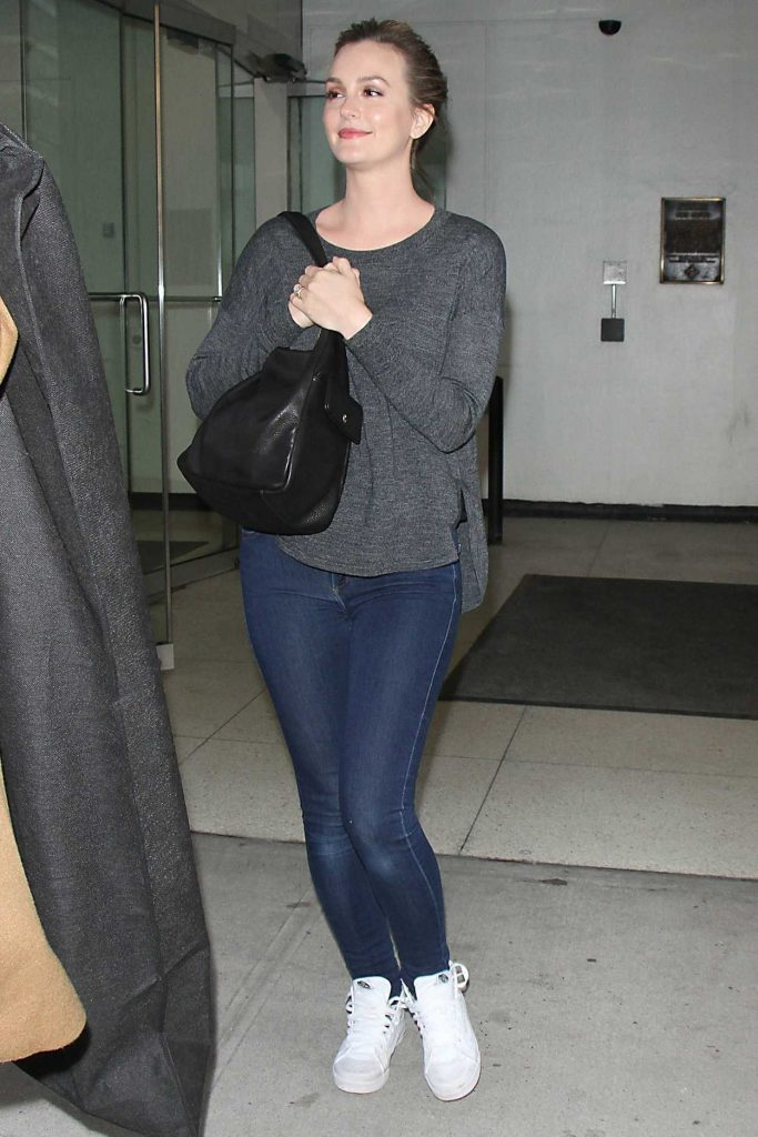 Leighton Meester Arrives on Harry TV Show in New York 02/22/2017-1