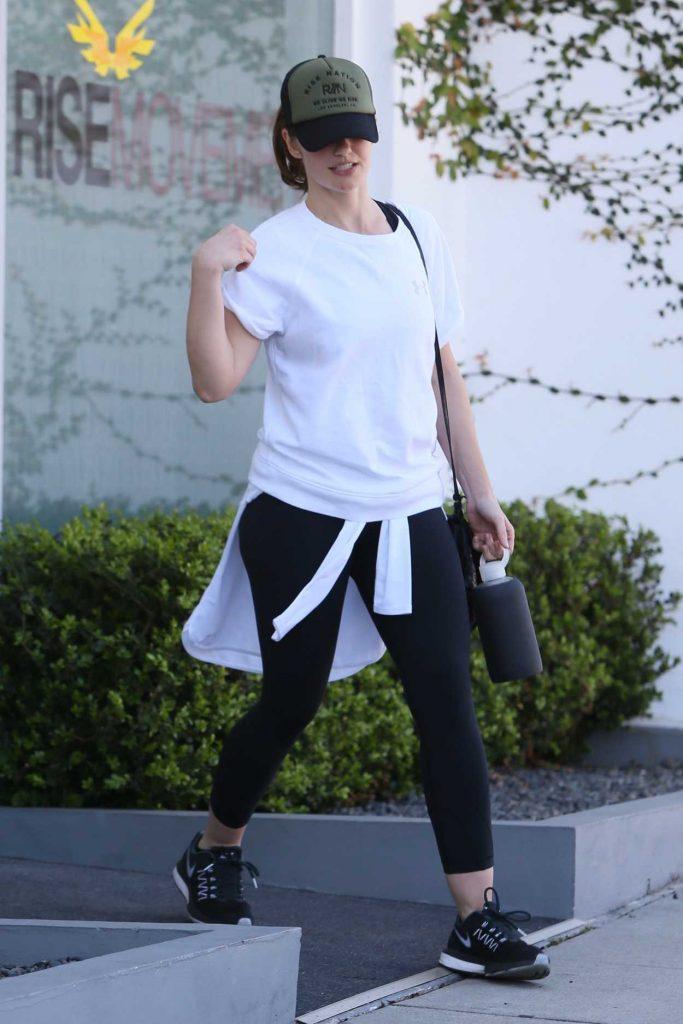 Minka Kelly Leaves Rise Nation Gym in LA 02/23/2017-2