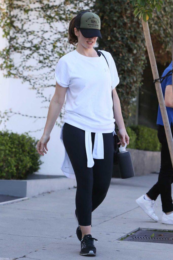 Minka Kelly Leaves Rise Nation Gym in LA 02/23/2017-3