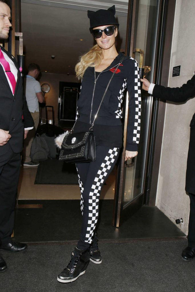 Paris Hilton at Heathrow Airport in London 01/30/2017-1
