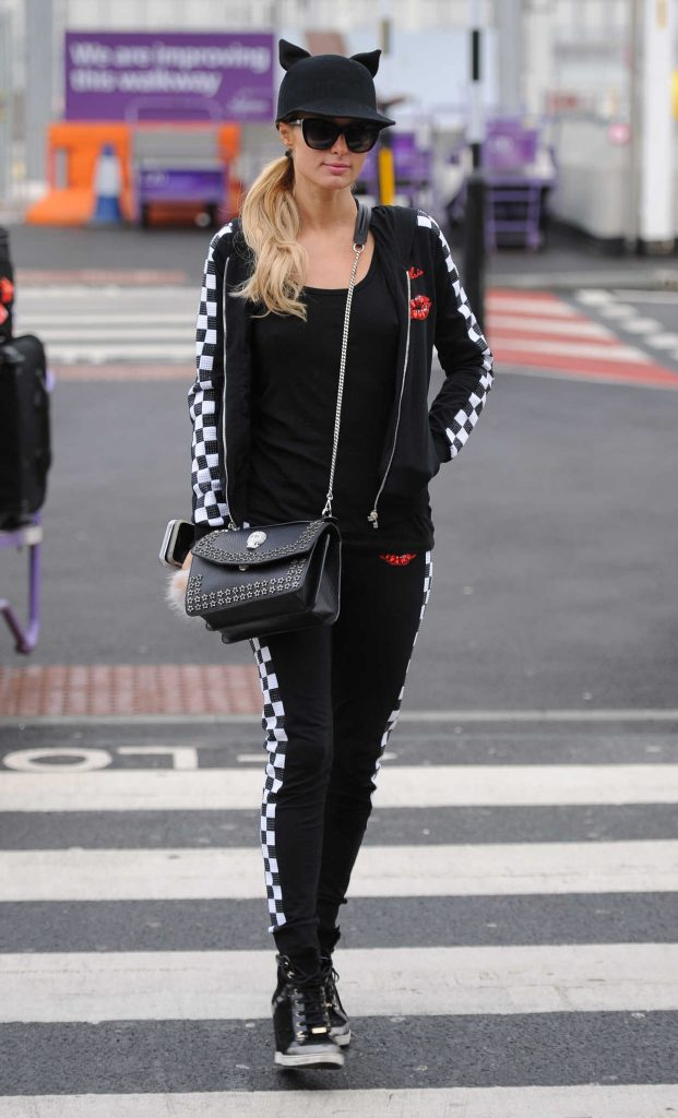 Paris Hilton at Heathrow Airport in London 01/30/2017-4