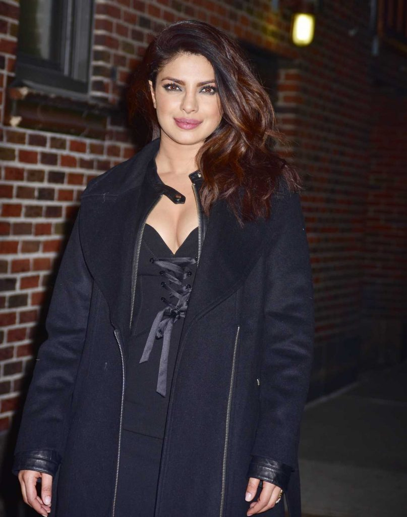 Priyanka Chopra Arrives on The Late Show With Stephen Colbert in New York City 02/02/2017-1