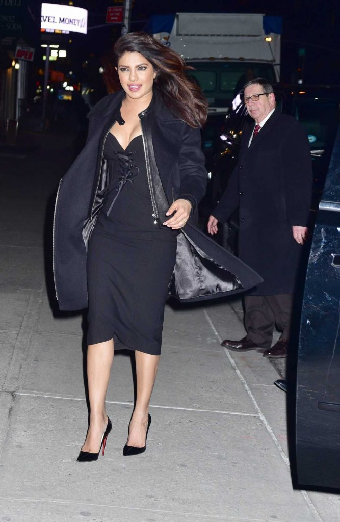 Priyanka Chopra Arrives on The Late Show With Stephen Colbert in New York City 02/02/2017-2