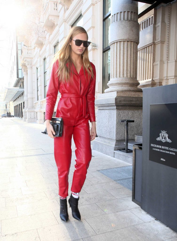 Romee Strijd Arrives to the Grand Hotel Gallia in Milan 02/25/2017-2