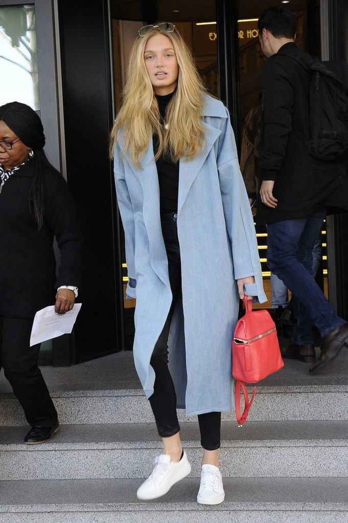 Romee Strijd Was Seen Out in Milan 02/21/2017-1